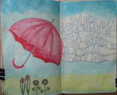 AJED week 14: we're having some lovely weather, really sunny and warm, but we had some rain as well. Caption: In life there's no sense waiting for the storm to pass. The point of living is learning to dance in the rain.  by KittyBG, via Flickr