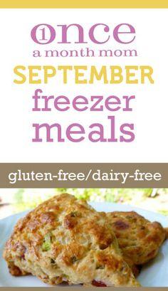 Gluten Free Dairy Free September 2012 Menu