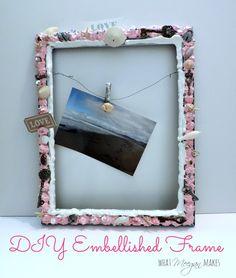 DIY Embellished Frame #modpodge #plaidcrafts