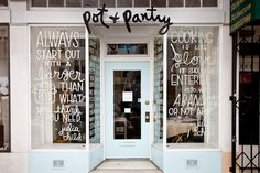 Love the storefront of Pot + Pantry!