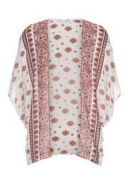 printed chiffon kimo