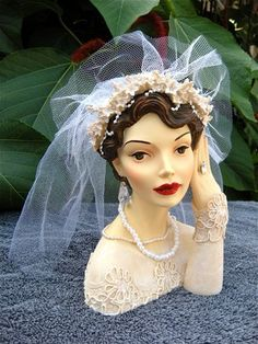 """LADY HEAD VASE BY CAMEO GIRLS JUDITH 1936 """"I DO"""" LIMITED EDITION"""