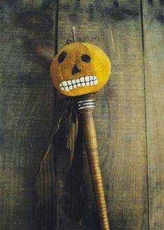 Jack (Primitive Pumpkin Head) : LakeviewPrimities.com