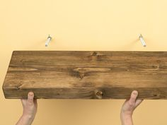 Invisible Bracketed (Floating) Shelves DIY: I really want to get some reclaimed wood and make custom shelves in the alcove, but drilling holes and injecting resin scares me. floating shelves, float shelf, diy wood shelves, floating wood shelves, hous plan, shelv diy, custom shelv, alcove, accessories