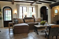 Open Kitchen Family Area Room   The open hearth fireplace is the such a special feature. It can never ...