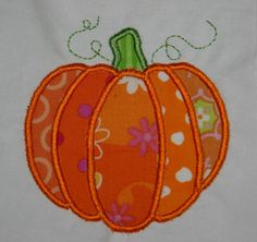 Pumpkin Applique Machine Embroidery Design by SewChaCha on Etsy, $3.00. The following formats are available: pcs, dst, exp, hus, jef, pes, vip and xxx. More formats available upon request.This design comes to fit in 3 hoop sizes: 4x4, 5x7 and 6x10