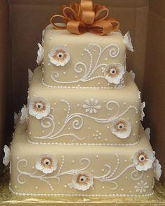taupe cake