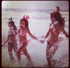 Playboy bunnies swimming!!!!!!:)