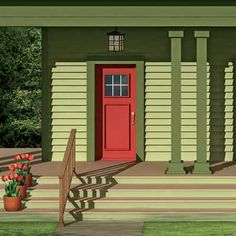 red doors, front color, color schemes, window boxes