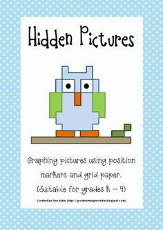Hidden Pictures ~ Position Graphs from Good Morning Mrs Rubie on TeachersNotebook.com -  (14 pages)  - Hidden Pictures - Position picture graphs. Suitable for K - 4.  Suitable for covering numeracy and literacy outcomes.  Use as independent activity or guided whole-class activity.