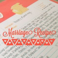 Recipe Scrapbook for Wedding Gift ... or any gift!