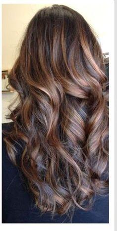 Balayage on brunette hair