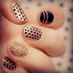 Nail Art: Black and Gold Designs | Beauty High