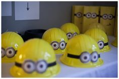 going to buy some yellow construction helmets and do this with for party favor.