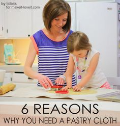 How to make a Pastry Cloth...and WHY you need one! --- Make It and Love It #DIY pastri clothand