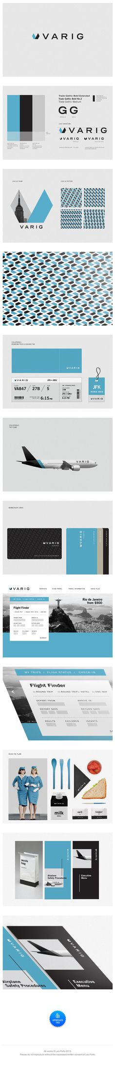 gorgeous. identity / Varig Redesign: Leo Porto #font - trade gothic