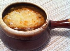 Eat • Write: Onion soup from the slow cooker