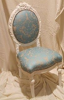 turquoise damask chair