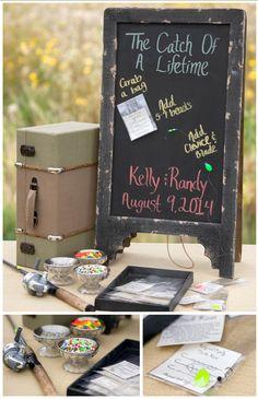 Fishing themed wedding favors