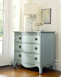 Painted Furniture. Use existing dresser and nightstands. I want a high gloss, smooth, modern look. No distressing. Classic green, sky blue, or another color?