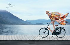 A sporting life! Hermès presents its spring-summer advertising campaign in the heart of Lake Como. #hermes #lakecomo #italy #silk #fashion #sport
