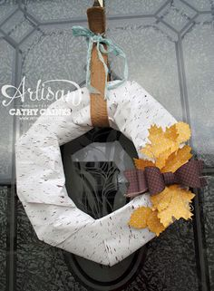 Artisan Wednesday Wow: Tablescape Wreath by Cathy Caines  @Stampin' Up!