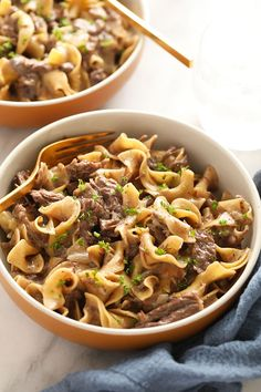 This Instant Pot Beef Stroganoff offers a healthier twist on the traditional stroganoff recipe and is made completely in the Instant Pot! A true win-win! Enjoy this one pot crowd pleaser today.