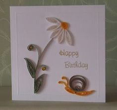 paper quill, quill idea, craft, card quill, quill card, pinkshop blog, daisi, quill paper, snail