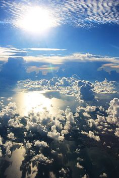 clouds, sky, airplan, heaven, the view, sunris, natur, beauti, earth day