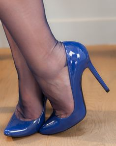 ♠️Stockings sexi heel, high heel, blue shoe, blue heel