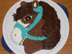 Willow's Pony Cake 2011 - using Wilton cake pan