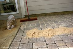 backyard bliss: installing patio pavers and a fire pit   the handmade home