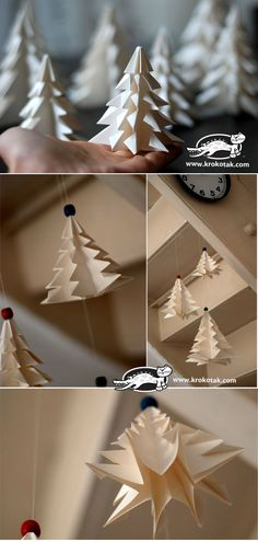 Fold a fir tree ( http://krokotak.com/2013/11/fold-a-fir-tree/ )