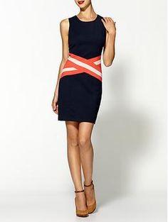 C.Luce Striped Waist Dress | Piperlime