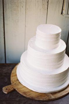 Simple, white cake