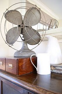 I heart old fans. #countryliving #dreambedroom