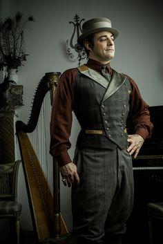 A very dapper men's corset vest.