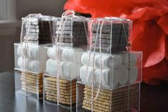 Little smores kits for the guests.
