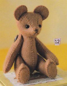 1 Easy Sewing Cute Felt Stuffed Teddy Bear with by DollyAndPaws, $3.50