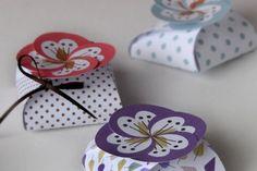 Pequeñas cajas de regalo para imprimir y armar - Las Manualidades
