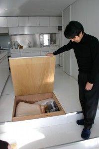 Hidden Storage Beneath Kitchen Floor