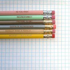princess bride pastel pencil set  by thecarboncrusader via etsy $8.00