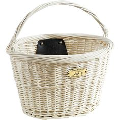 Nantucket Bicycle Basket Co. Jetties Collection Bicycle Basket, White