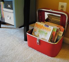 I love this idea for storing records