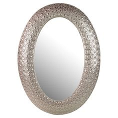 Wall mirror with a textured metal frame.   Product: MirrorConstruction Material: Metal and mirrored glass...