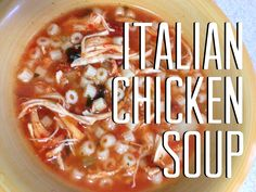 Crock Pot Italian Chicken Soup