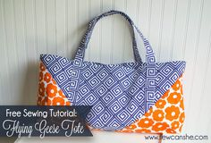 The Flying Geese Tote ... un moderno bolso de tutorial y tela regalo!