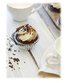 Two Toned Nutella Cupcake