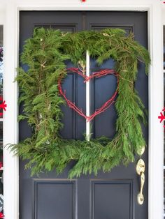 Go Square - All-Natural Holiday Porch Decorating Ideas on HGTV