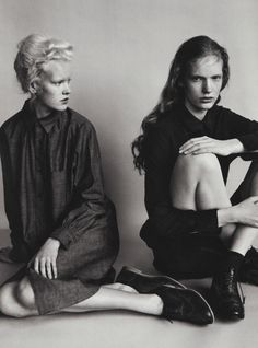 """Follow Your Dreams Not Someone Else's"""": Linn and Anniek by Josh Olins for i-D Fall 2011"""